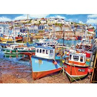 Mevagissey Harbour - jigsaw puzzle of 1000 pieces