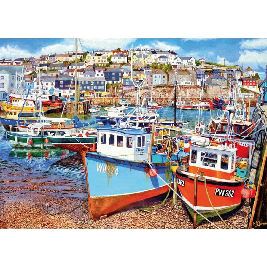 Mevagissey Harbour - jigsaw puzzle of 1000 pieces-1
