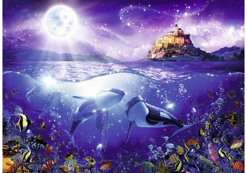 Whales in the moonlight - 1000 pieces