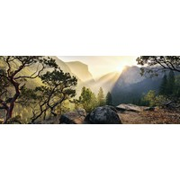 thumb-Yosemite Park - panoramische legpuzzel van 1000 stukjes-1