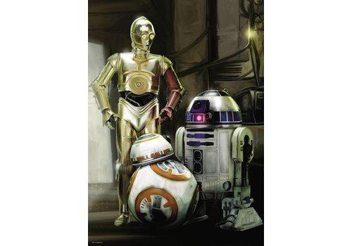 C-3PO, R2-D2, BB-8 - 1000 stukjes