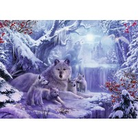 thumb-Loups en hiver - puzzle de 1000 pièces-1