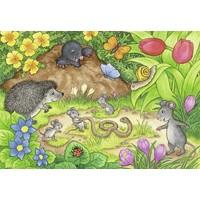 thumb-Dieren in onze tuin - 2 puzzels van 12 stukjes-2