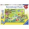 Ravensburger Dieren in onze tuin - 2 puzzels van 12 stukjes