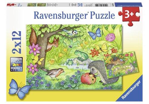 Ravensburger Les animaux dans notre jardin - 2 x 12 pièces