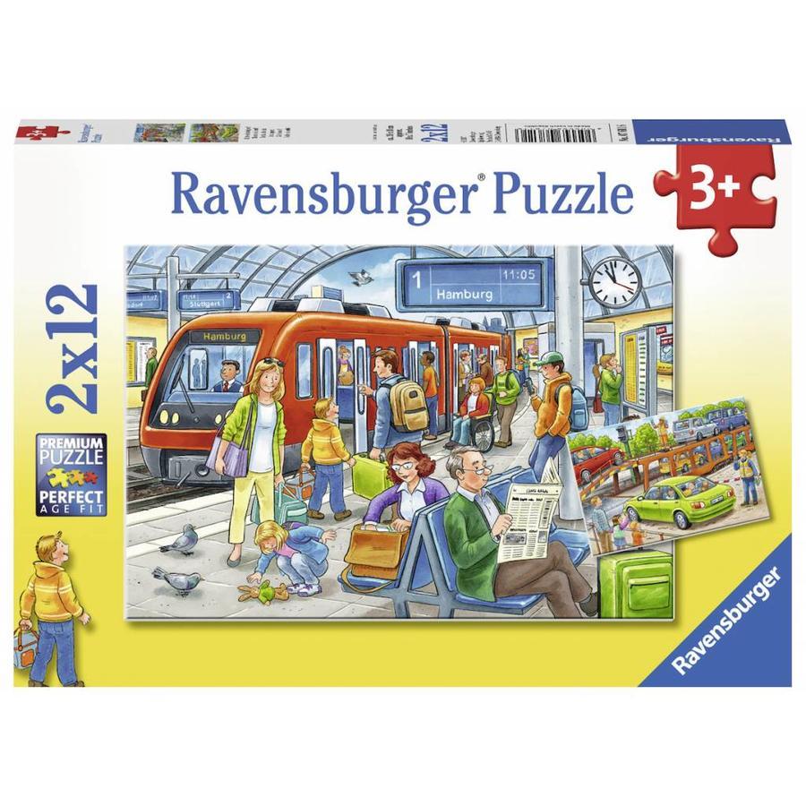 Instappen - 2 puzzels van 12 stukjes-1