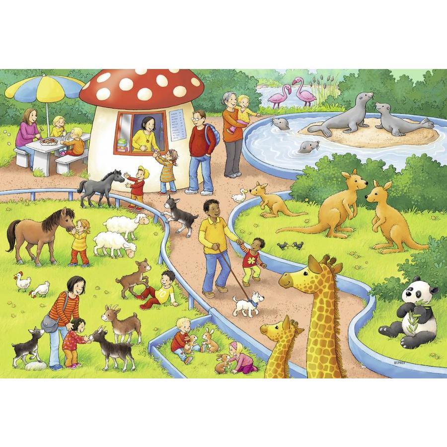 Une journée au zoo - 2 puzzles de 24 pièces-2
