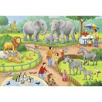 thumb-Une journée au zoo - 2 puzzles de 24 pièces-3