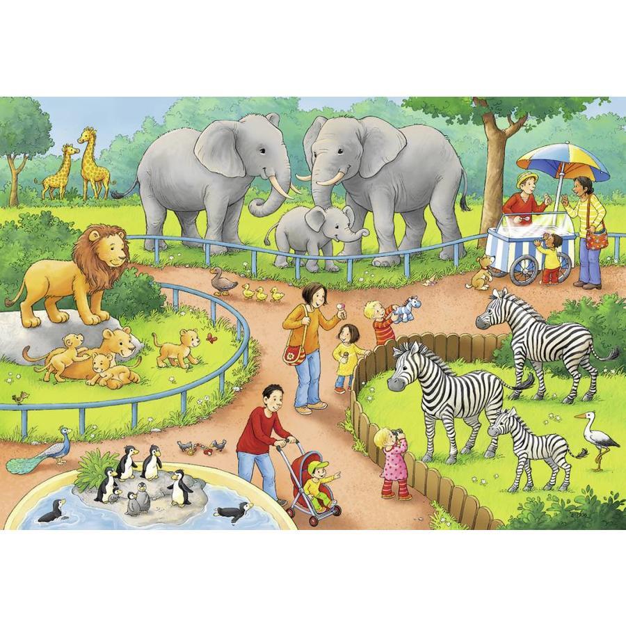 Une journée au zoo - 2 puzzles de 24 pièces-3