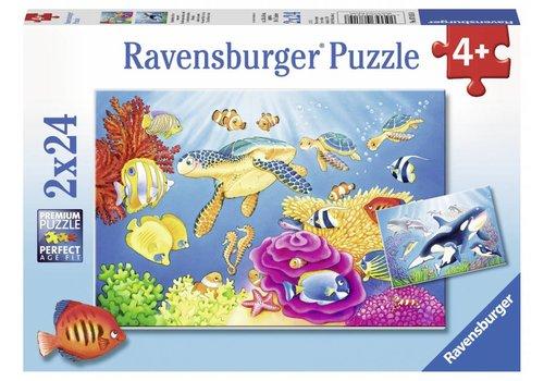 Onderwaterwereld - 2 x 24 stukjes