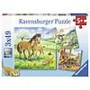 Ravensburger Knuffeltijd - 3 x 49 stukjes