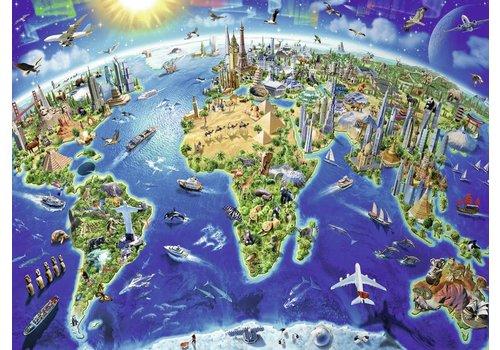 Wereldkaart - 200 stukjes