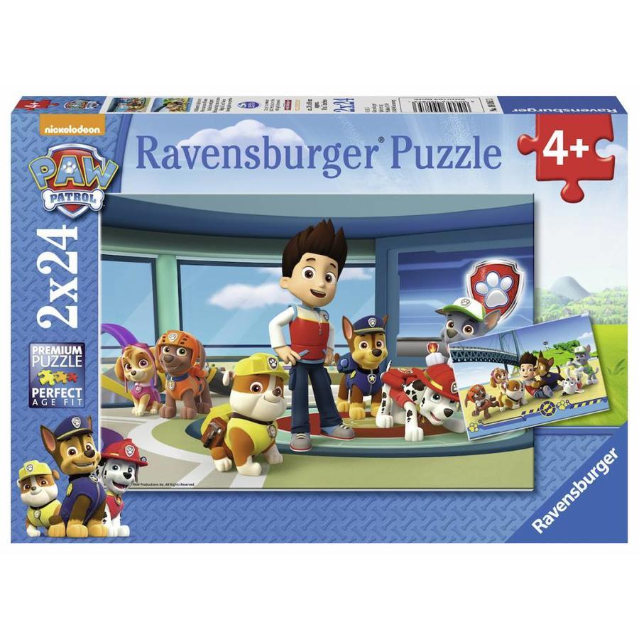 Hulpvaardige speurneuzen - 2 puzzels van 24 stukjes-1