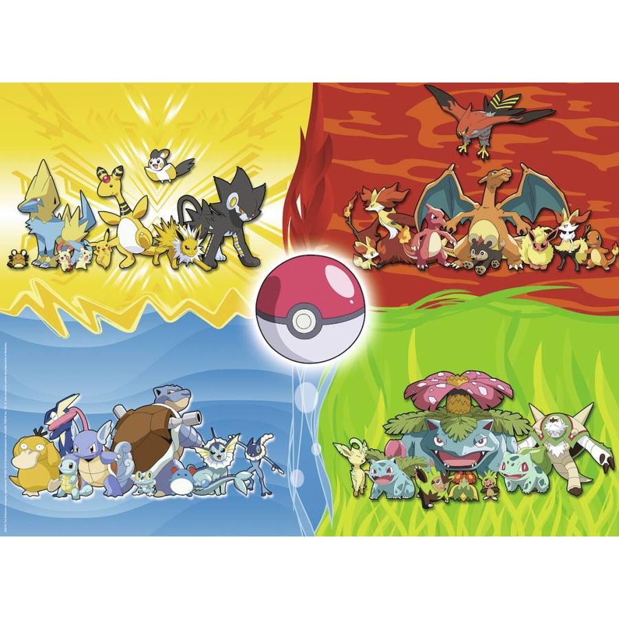Verschillende Pokémons - puzzel van 150 stukjes-1
