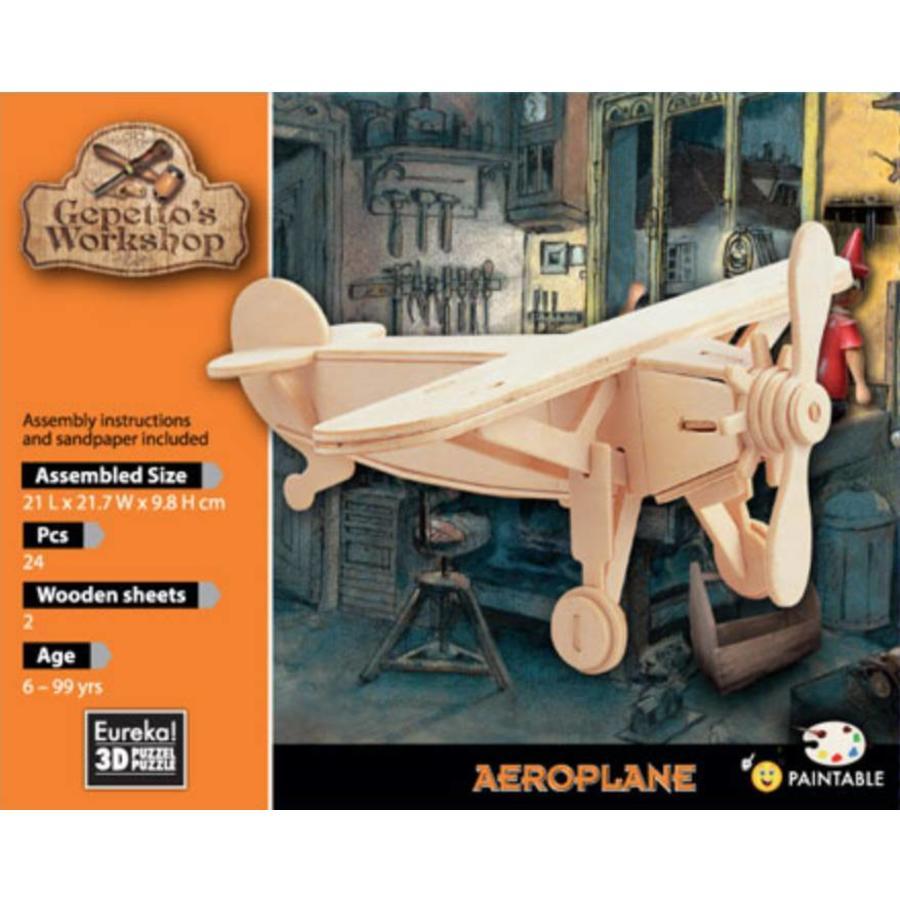 Vliegtuig - Gepetto's Workshop - 3D puzzel-2