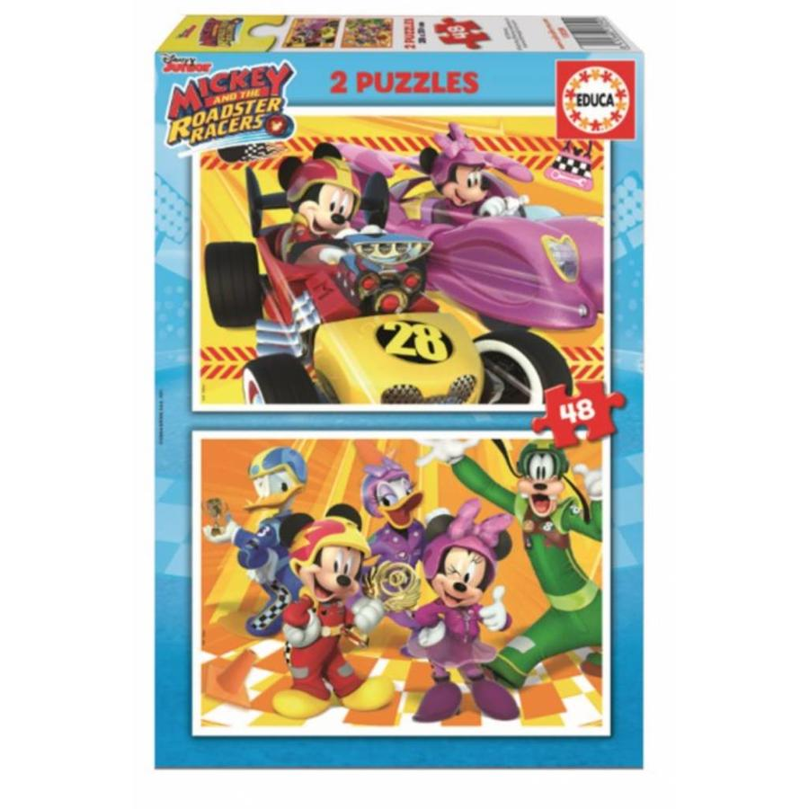 Mickey  and the Roadster Racers- 2 x 48 stukjes-1