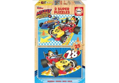 HOUT: Mickey - 2 x 25 stukjes