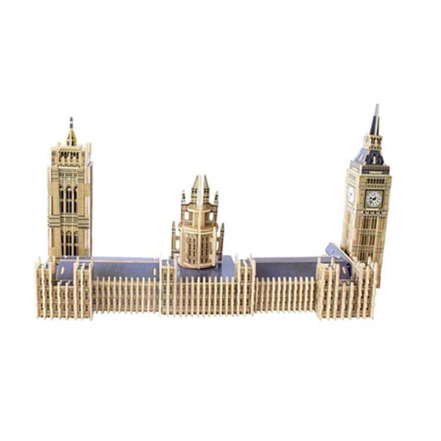 HOUT: Big Ben - 3D monument puzzel - 156 stukjes-3