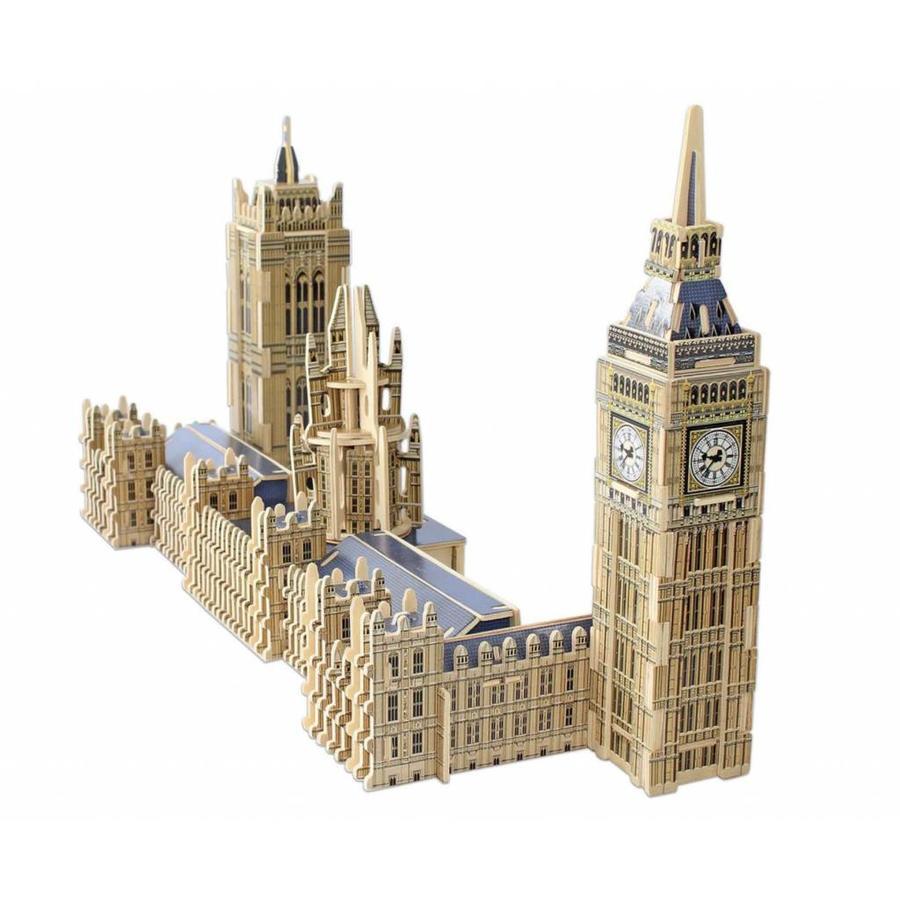 HOUT: Big Ben - 3D monument puzzel - 156 stukjes-2