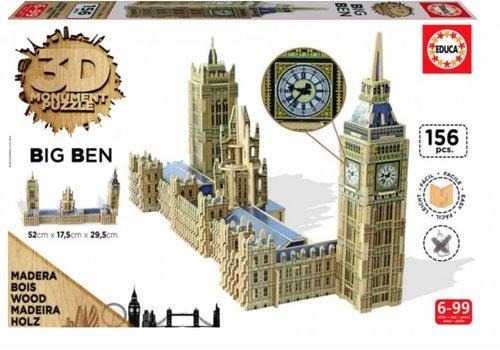BOIS: Big Ben - 3D puzzle - 156 pièces