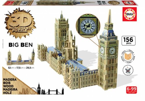 WOOD: Big Ben - 3D puzzle - 156 pieces