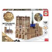 thumb-WOOD: Notre-Dame - 3D puzzle - 148 pieces-1