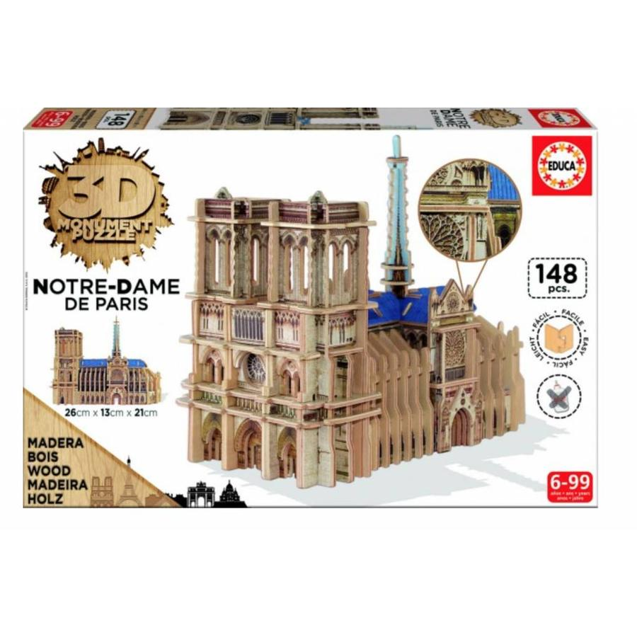 WOOD: Notre-Dame - 3D puzzle - 148 pieces-1