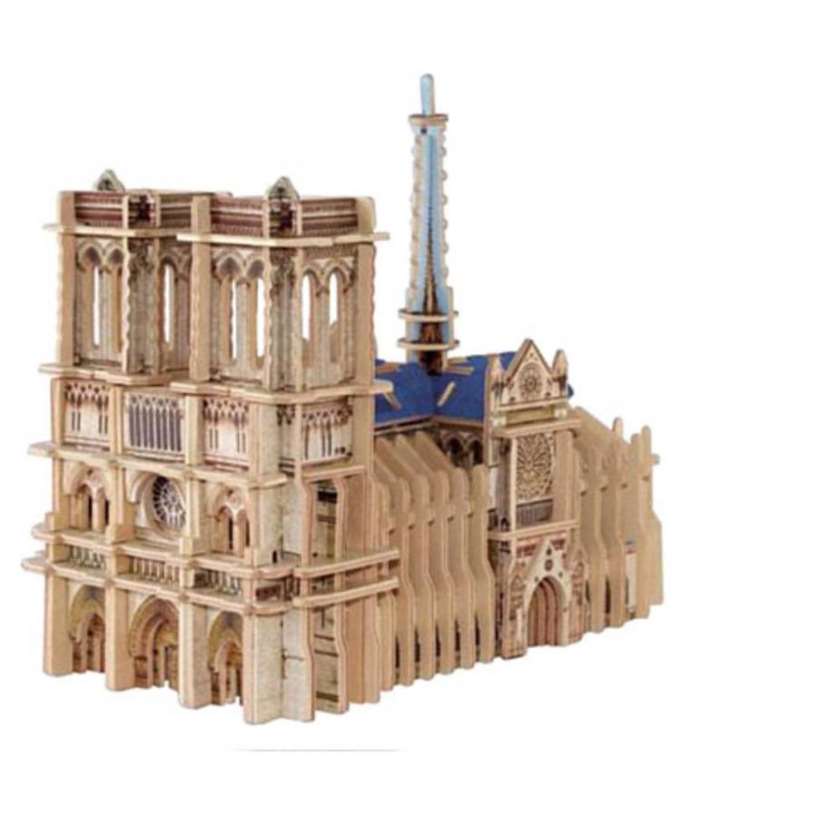 WOOD: Notre-Dame - 3D puzzle - 148 pieces-2