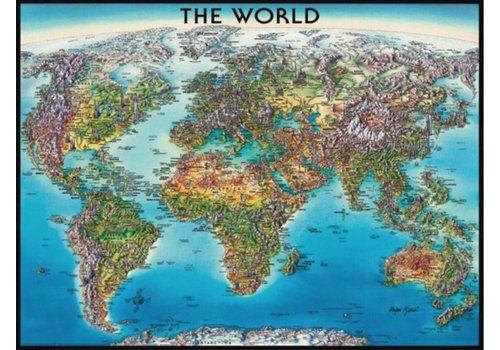 Wereldkaart - 2000 stukjes - exclusief