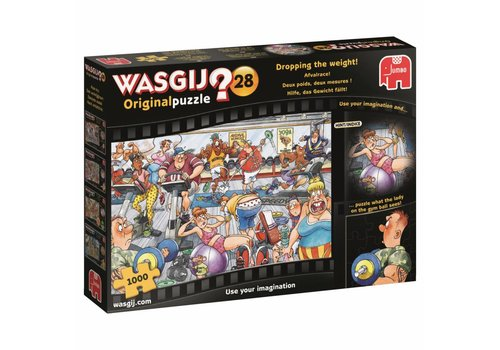 Wasgij Original 28 - Dropping the weight! - 1000 pieces