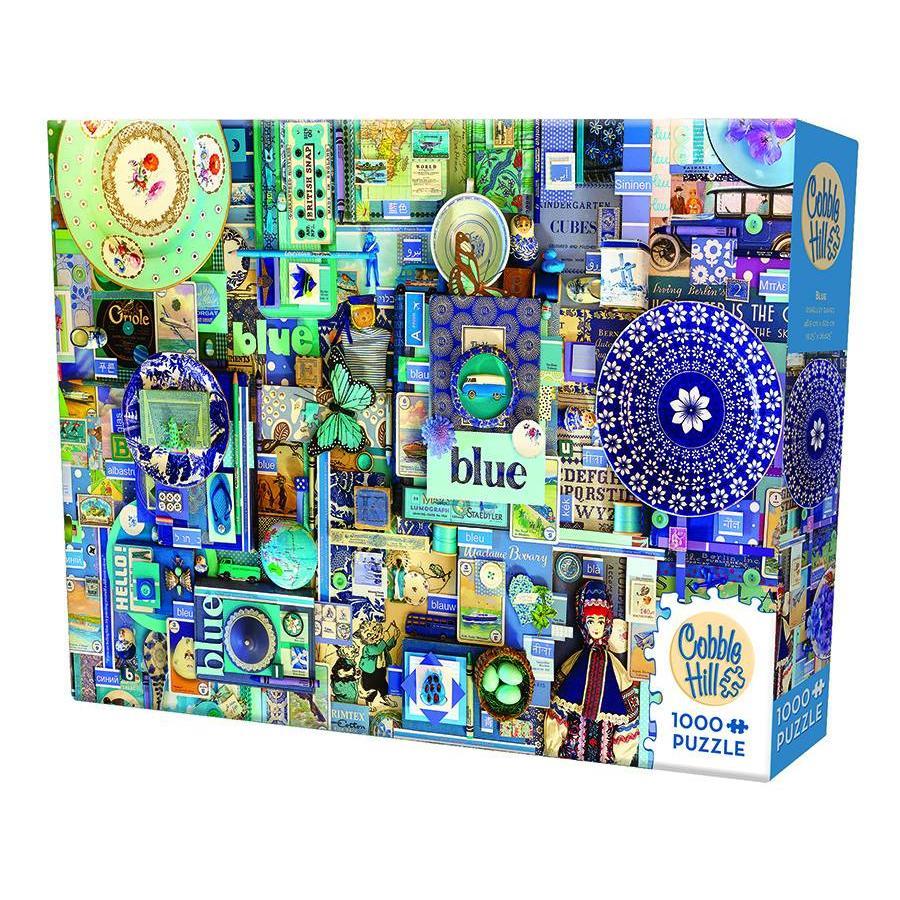 Bleu - puzzle de 1000 pièces-2