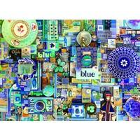 thumb-Bleu - puzzle de 1000 pièces-1