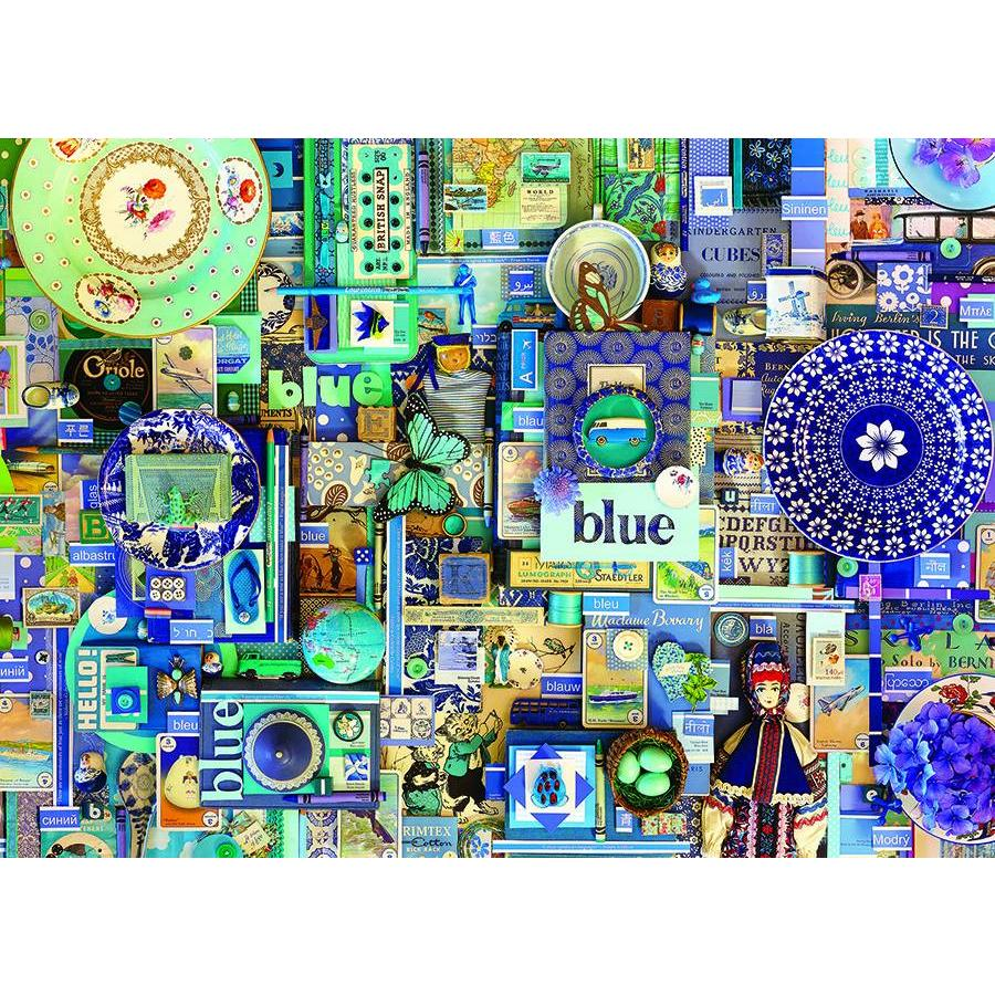 Bleu - puzzle de 1000 pièces-1