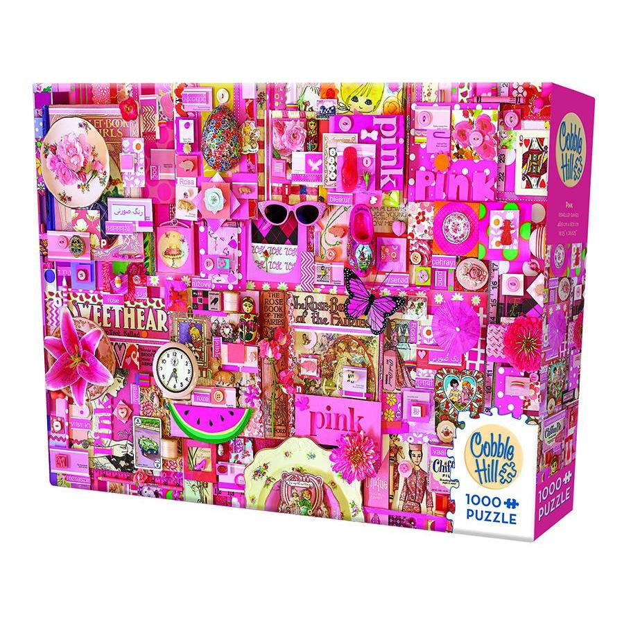 Roze - puzzel van 1000 stukjes-2