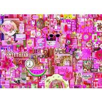 thumb-Roze - puzzel van 1000 stukjes-1