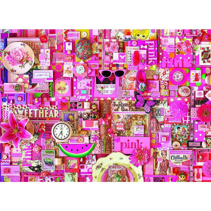 Roze - puzzel van 1000 stukjes-1