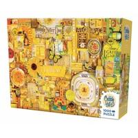 thumb-Jaune - puzzle de 1000 pièces-2