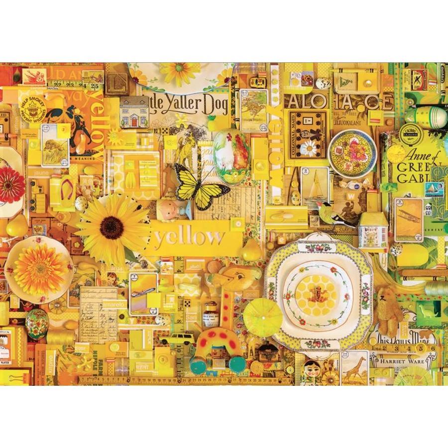 Jaune - puzzle de 1000 pièces-1