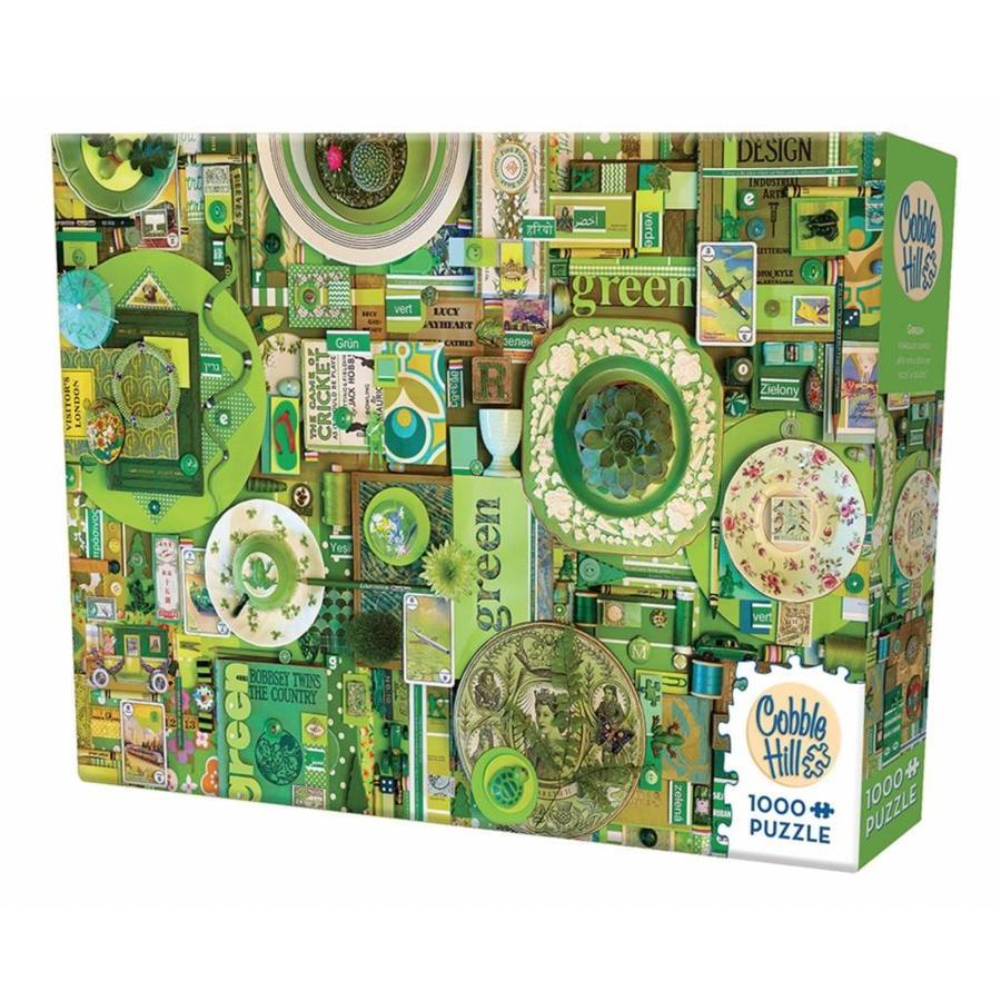 Groen - puzzel van 1000 stukjes-2