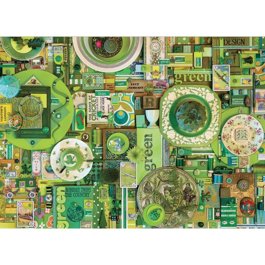 Groen - puzzel van 1000 stukjes-1