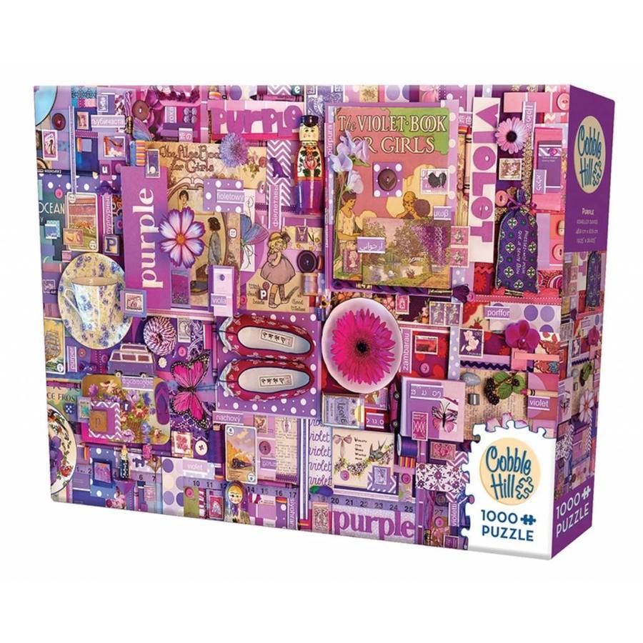 Paars - puzzel van 1000 stukjes-2