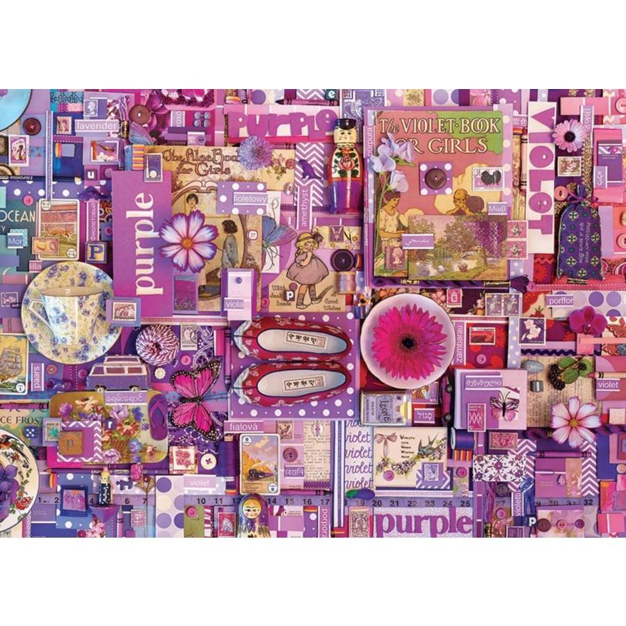 Paars - puzzel van 1000 stukjes-1