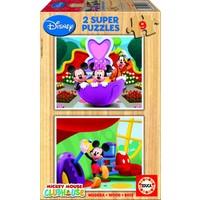 WOOD: Disney Mickey - 2 puzzles x 9 pieces