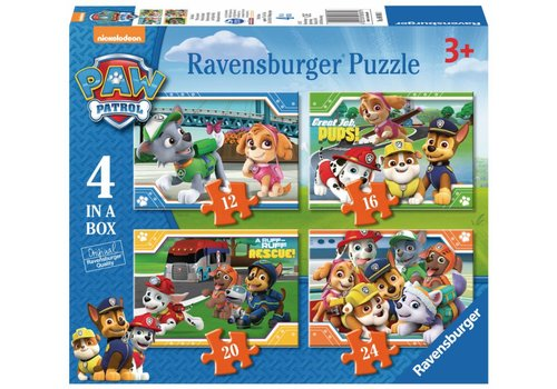 Ravensburger Paw Patrol - 12 + 16 + 20 + 24 pieces