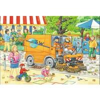 thumb-Onderweg met de vuilniswagen - 2 puzzels van 12 stukjes-3