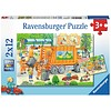 Ravensburger Garbage Truck - 2 puzzles of 12 pieces
