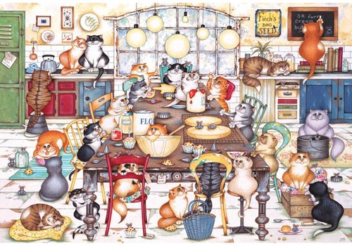 Cat's Cookie Club - puzzle 250 XL pieces