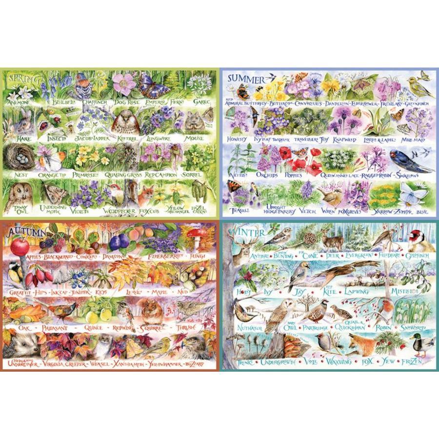 Les saisons - puzzle  de 2000 pièces-1