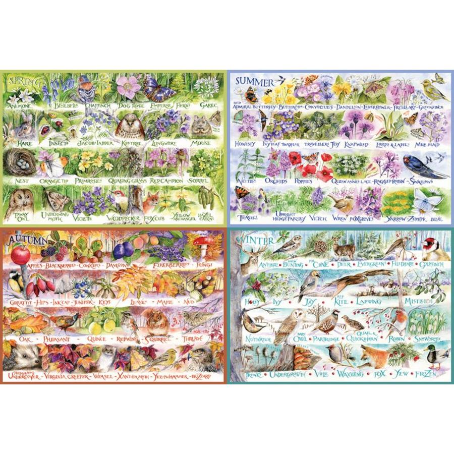 Seizooenen - puzzel van 2000 stukjes-1