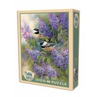thumb-Les oiseaux en violet - puzzle de 1000 pièces-2
